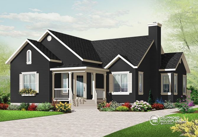 Beautiful 3 bedroom bungalow with open floor plan by Drummond House Plans