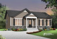 traditional ranch home with open floor plan concept ...