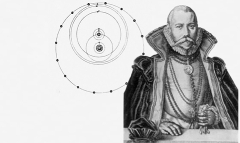 This is the logo of Project Tycho.  It depicts Tycho Brahe with his unique view of the universe. (click for credit)