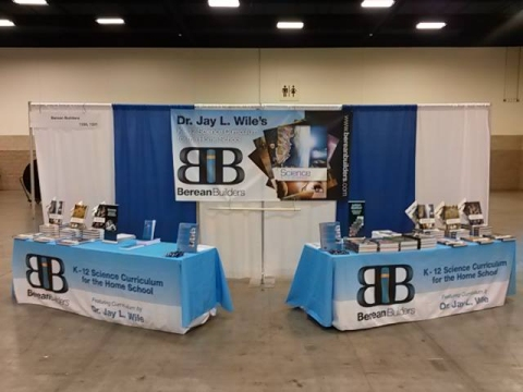 My publisher's booth at the Texas Homeschool Convention.
