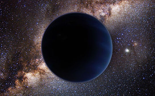 This is an artist's depiction of what 'Planet Nine' might look like. (click for credit)