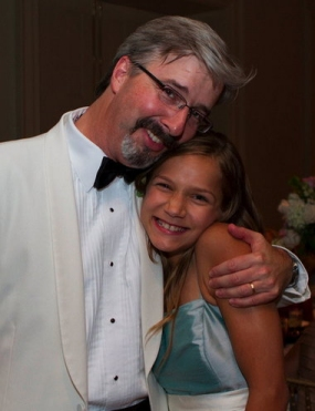 Larry Taunton and his Ukrainian daughter, Sasha. (color version of s photo that is in the book)