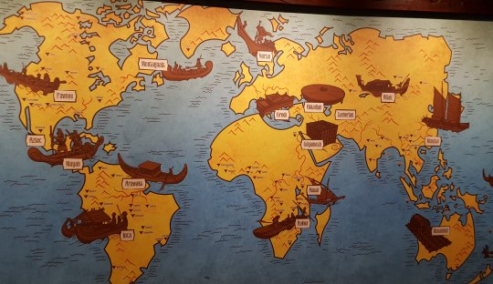 A display discussing the various flood legends found around the world (click for a larger image)