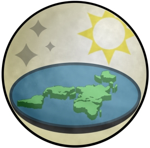The logo of the 2013 Flat Earth Society (click for credit)