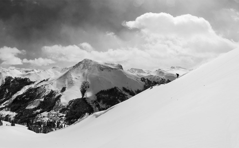 Skiing in Red Mountain Pass