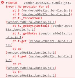 Angular 4 Error