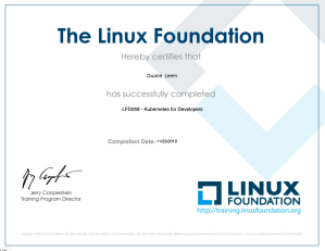 The Linux Foundation - Kubernetes Training