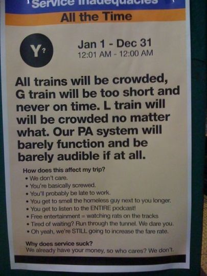 Fake subway advisory