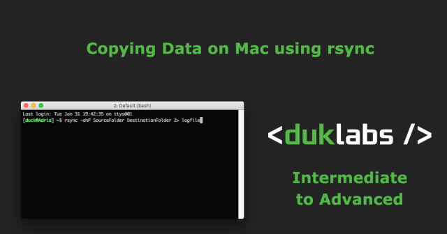 Using rsync on Mac to Copy Files – Duck's Tech Blog