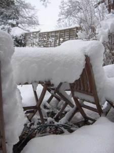 Snow on a table