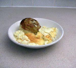 Baked apple & egg custard