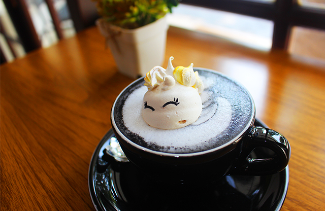 charcoal latte Odelice via duniamasak
