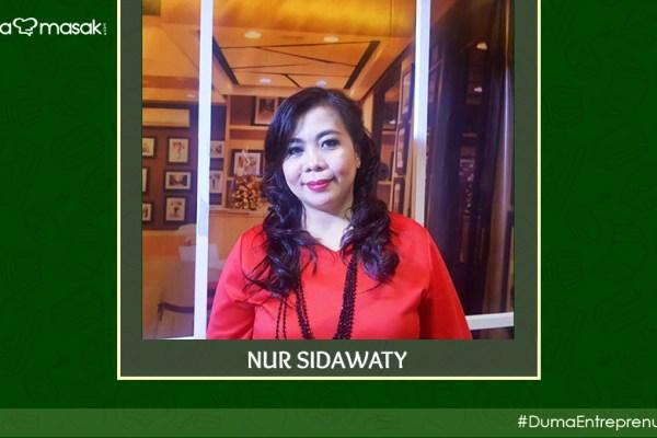 Nur Sidawaty DuniaMasak Entreprenuer via dok. pribadi