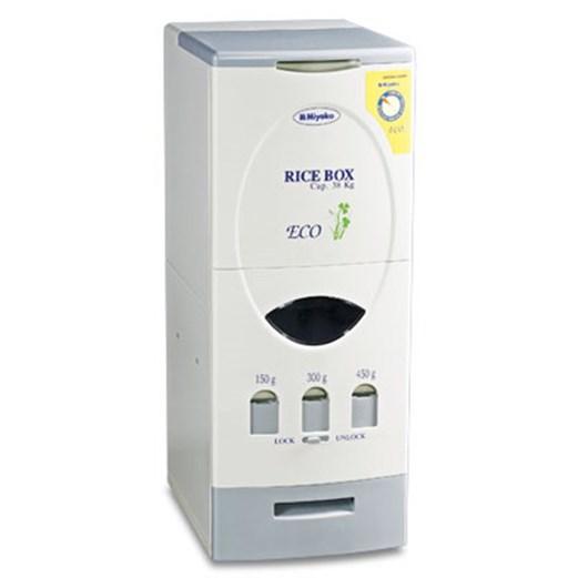 Dispenser Beras Miyako menyimpan beras via duniamasak.com