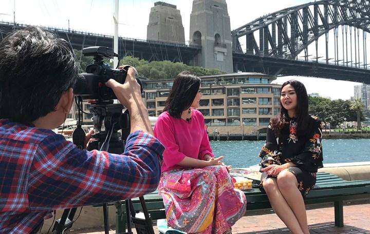 Icha Irawan yang akrab dipanggil Mommy Icha saat sesi interview dengan salah satu media via dok. pribadi