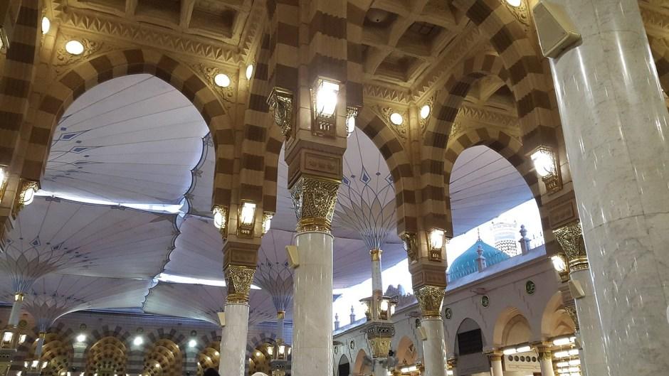Masjid Nabawi saat bulan puasa via pexels.com