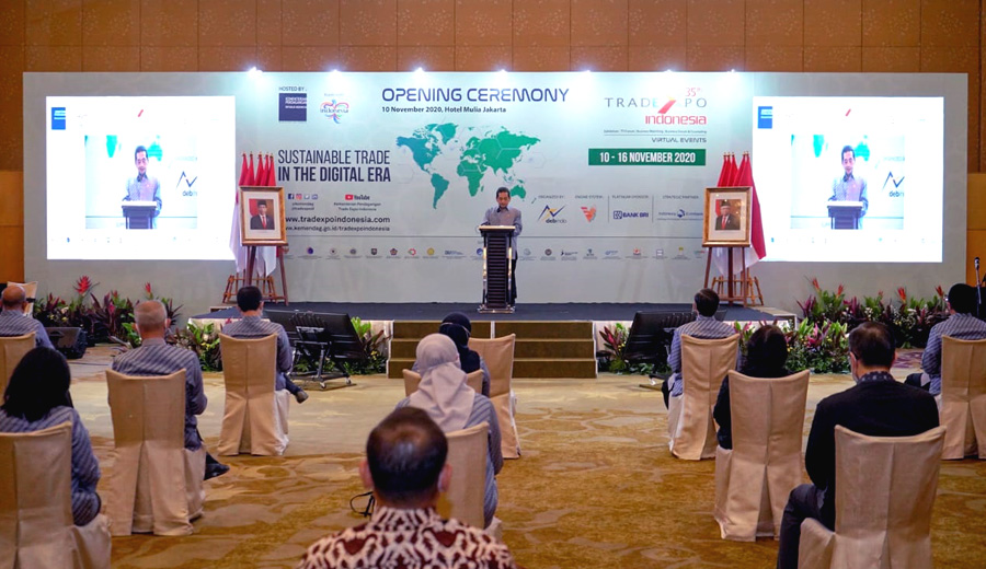 Opening Trade Expo Indonesia 2020 via TEI ala duniamasak