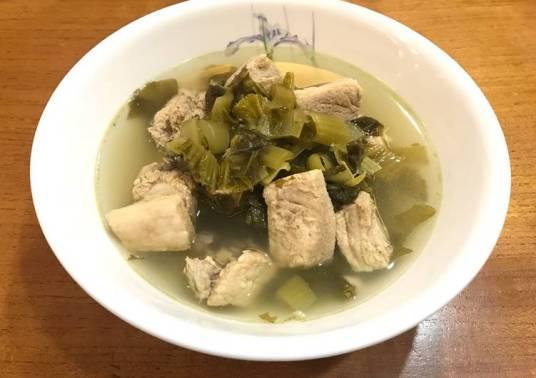 Resep olahan daging babi bakut sayur asin via cookpad.com ala duniamasak