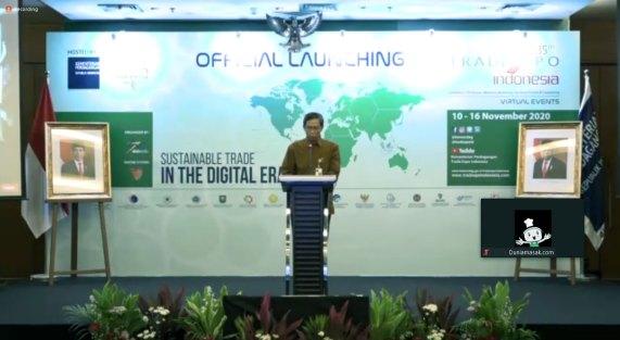 Pembukaan peluncuran trade expo Indonesia 2020 dok. duniamasak