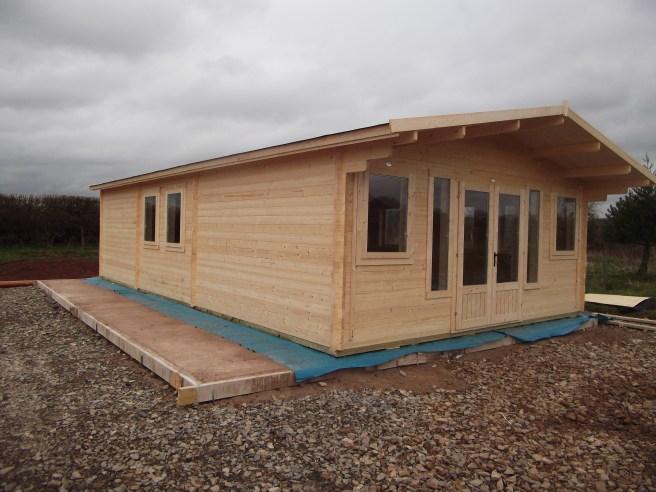 Install Log Cabin Dunster House