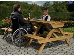 Mobility Picnic Table Dunster House