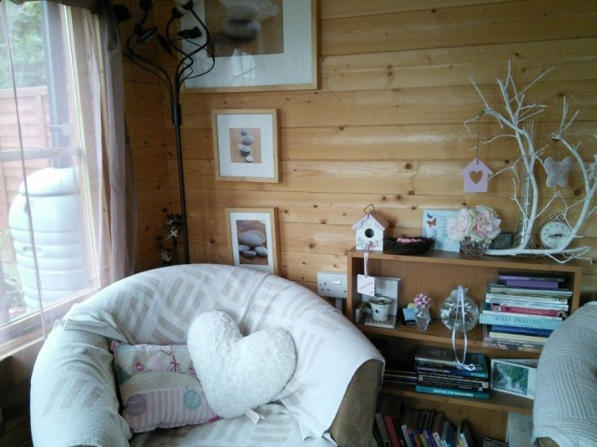 Working From Home - Log Cabin Dunster House with decoration