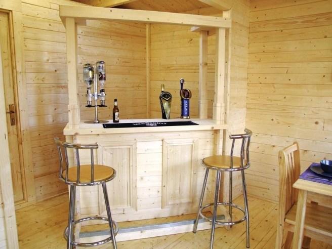 Bar in your log cabin - Dunster House Cabin Bar High/Low Top Bar