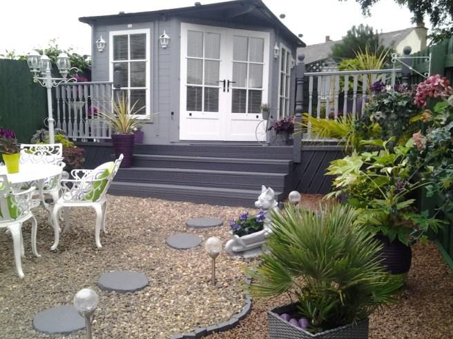 Coronet Log Cabin garden exterior design