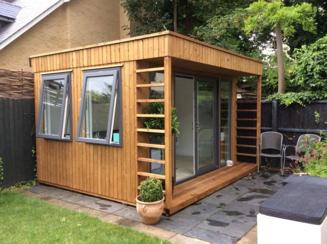 Office in the garden as an ideal working environment