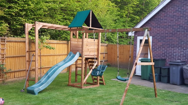 Climbing Frames from Dunster House with two swings and slide