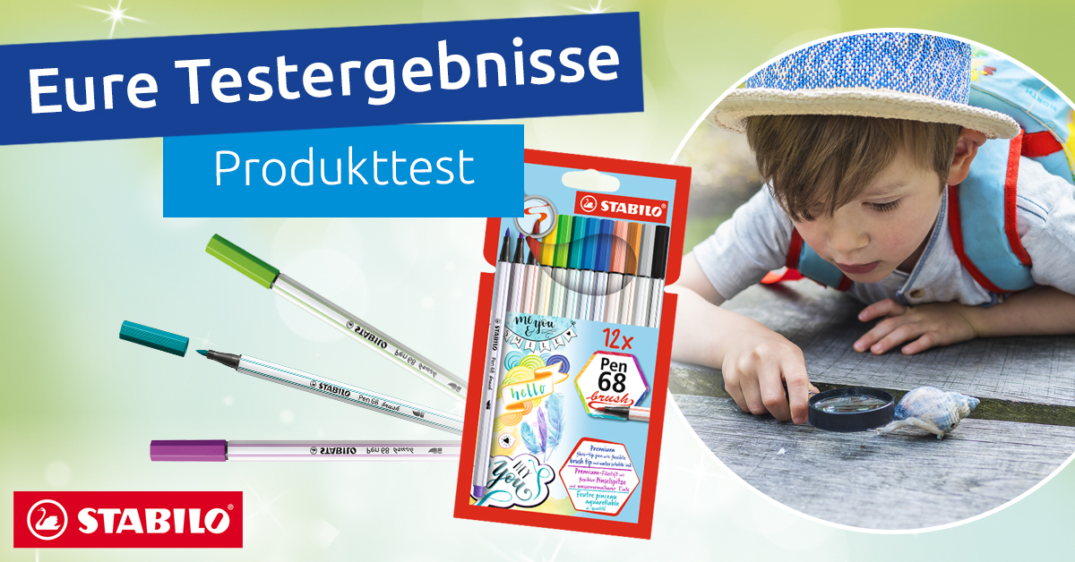 Produkttest Ergebnis Stabilo Pen 68 brush