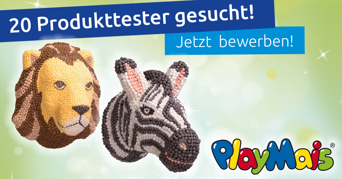 Produkttest: Zebra oder Löwe von PlayMais Kids Home Design!