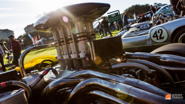 2014 03 Amelia Concours Day 3 - 18 McLaren M6A Intake Horns