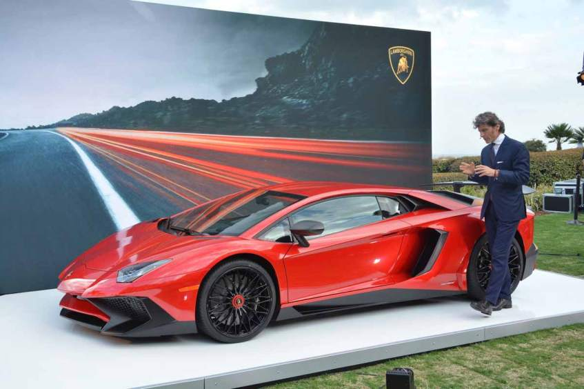 Unveiling of the Lamborghini Aventador SV at Amelia Island 2015