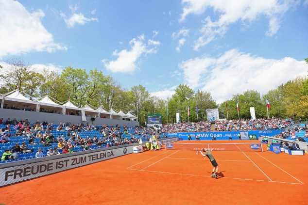 MUNICH, GERMANY - APRIL 30: On Court Activities during the BMW Open 2015 on April 30, 2015 in Munich, Germany. (Photo by Alexander Hassenstein/Getty Images)
