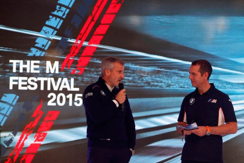 Nürburgring (DE), 14th May 2015. 24h race, BMW M6 GT3 Presentation, Jens Marquardt (DE) BMW Motorsport Director, Frank van Meel (NL) Chairman of the Board of Management of BMW M GmbH. This image is copyright free for editorial use © BMW AG (05/2015).