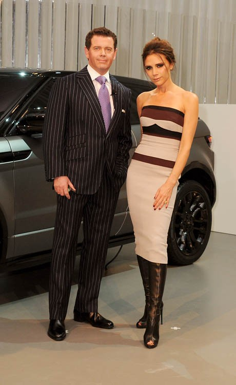 Evening Reveal as Land Rover launch the Range Rover Evoque Special Edition with Victoria Beckham at the Central Academy of Fine Arts on April 22, 2012 in Beijing, China. Pic Shows: Gerry McGovern, Victoria Beckham Pic Credit: Dave Benett