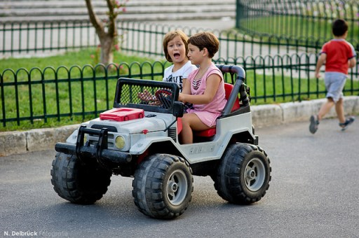 Women Drivers Starting Young!