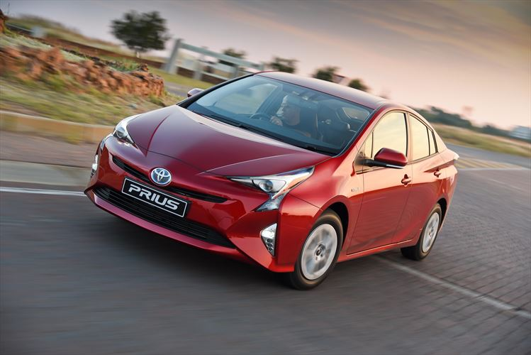 Sharp sculpted lines gives the Prius an aggressive stance