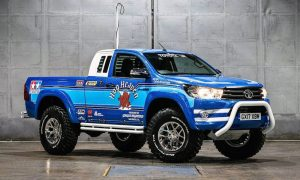 Toyota has teamed up with Arctic Trucks to build a full-size, Hilux-based replica of Tamiya's radio-controlled Bruiser scale model made popular in the 1980s.