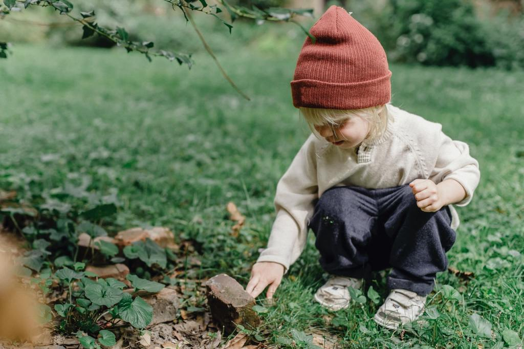 child in yard of rental house