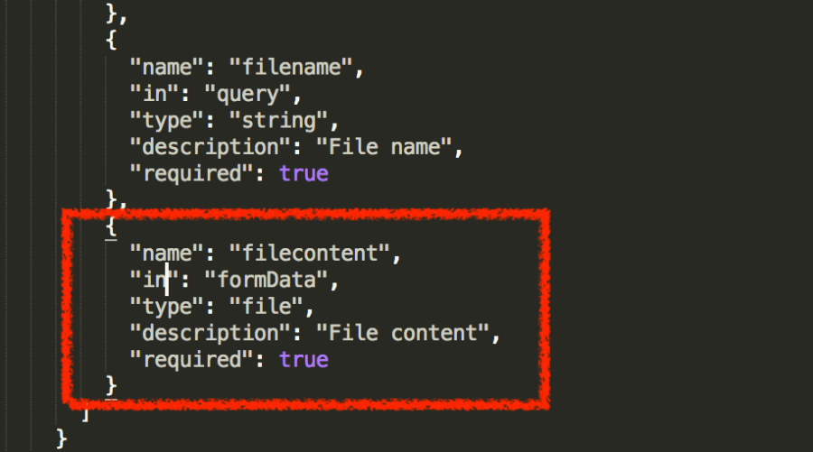 Adding file params