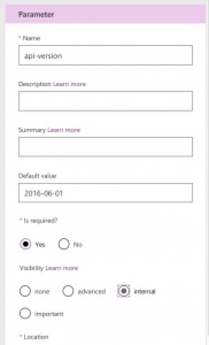 Modify visibility