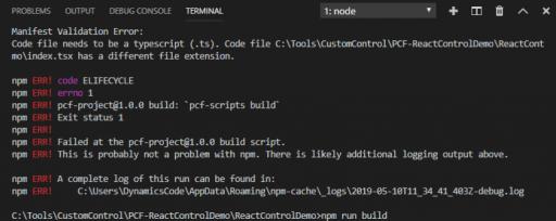 tsx error during build