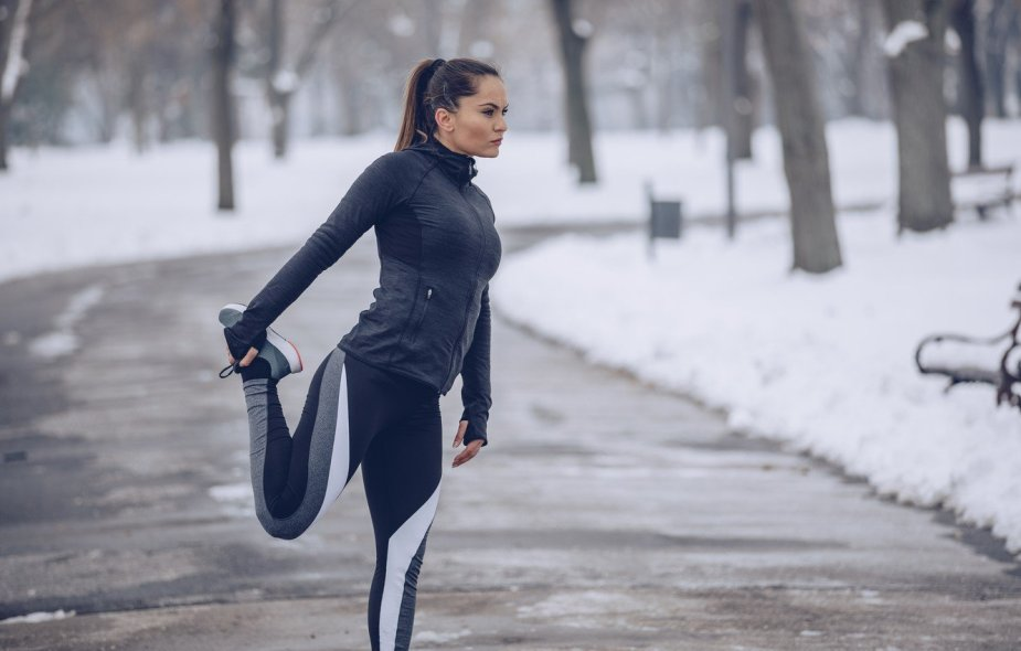 This image was used for motivational purposes and to encourage the readers to do some outdoor activities during their winter season diet.