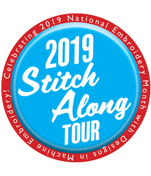 Designs in Machine Embroidery, Stitch Along Tour
