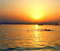 Ganges sunrise swim