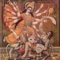 Durga Slays Mahisasura