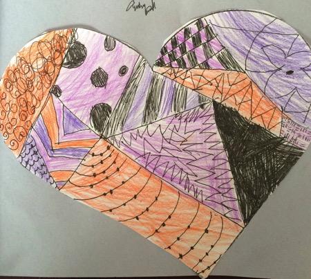 Zen tangle heart 2014