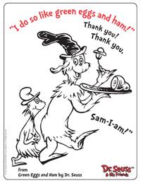 Dr. Seuss's Green Eggs and Ham Printables